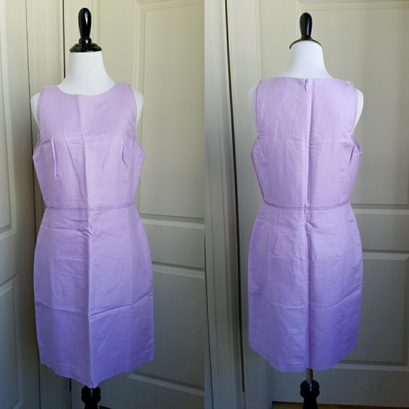 8ee3001c90b NWT LOFT Lavender Linen Blend Sheath Dress